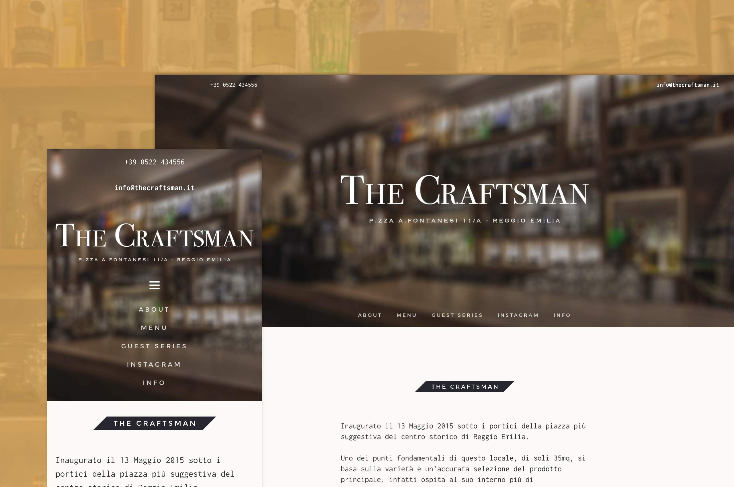 The header of The Craftsman webpage